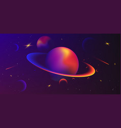 space background with planets and stars vector image