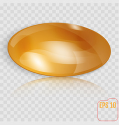 template of gold throwing disk or button isolated vector image