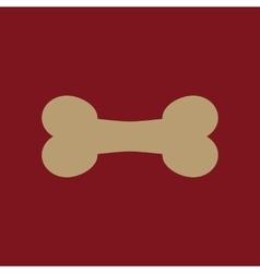 The Dog bone icon Pets food symbol Flat vector