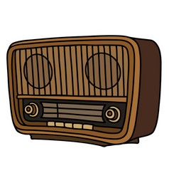 The retro lamp radio vector