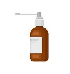 throat spray aerosol medication bottle vector image
