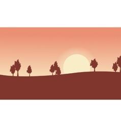 Tree on desert landscape backgrounds vector