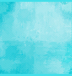 Turquoise spotted halftone background vector