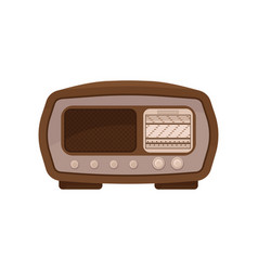 vintage radio on a white vector image