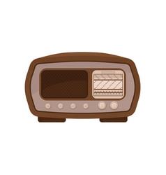 vintage radio on a white vector image