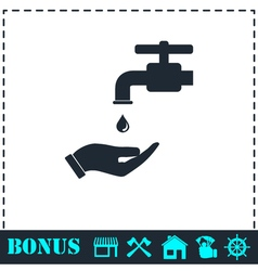 Wash your hands mandatory icon flat vector image