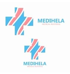 Medical cross logo template vector image