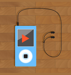 mp3 player with headphone vector image vector image