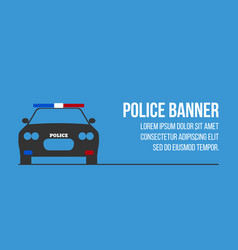 police logo and banner with car vector image vector image