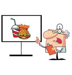 Presentation cartoon vector image vector image