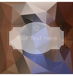 Retro vintage polygonal background vector image vector image