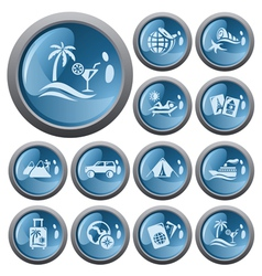 Vacation buttons vector image