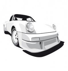 white sport car vector image vector image