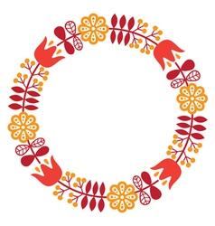 Finnish inspired round folk art pattern - Nordic vector image vector image