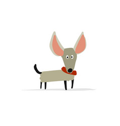 funny small dog sketch for your design vector image vector image