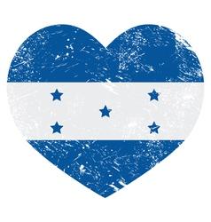 Honduras retro heart shaped flag vector image vector image