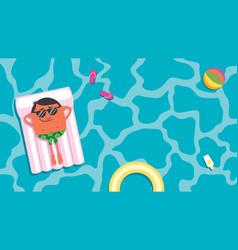 summer pool man vector image vector image