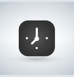 clock app button on a white background vector image