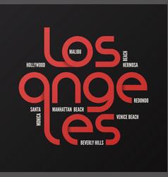 los angeles design typography print logo vector image vector image