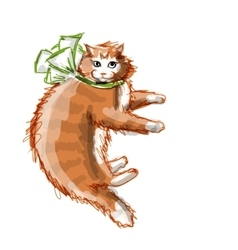 Cute orange cat sketch for your design vector image vector image