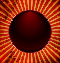 Dark ball frame vector image