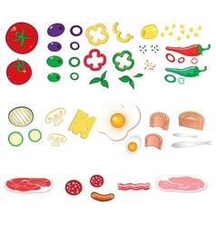 food ingredients set vector image