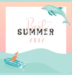 hand drawn funny summer time vector image