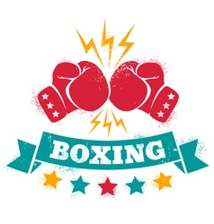 logo for a boxing vector image vector image