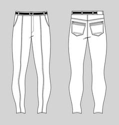Skinny jeans vector