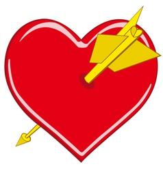 stylized valentine heart vector image