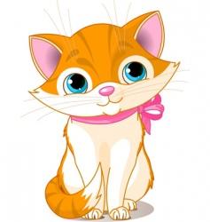 very cute cat vector image