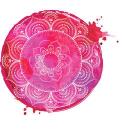 watercolor yoga india arabic vector image
