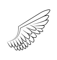 wing bird animal angel icon graphic vector image vector image