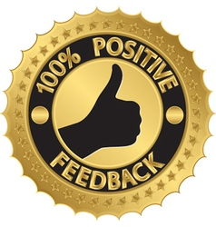 100 percent positive feedback gold label vector