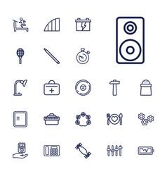 22 equipment icons vector