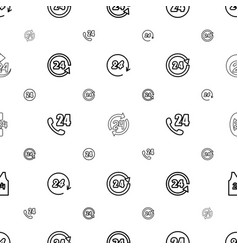 24 icons pattern seamless white background vector