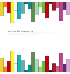 Abstract background with color stripes vector image