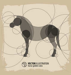 Abstract horse background vector