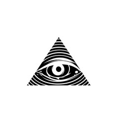 All seeing eye theme logo template vector