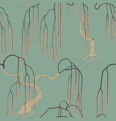 art nouveau tree vector image