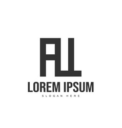 at logo template design initial letter logo design vector image