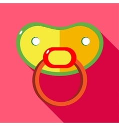 Baby dummy icon flat style vector