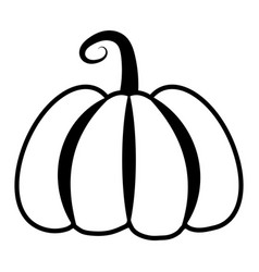 black and white pumpkin for halloween is simple vector image