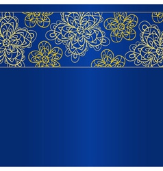 Blue bright card template vector