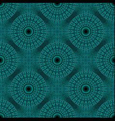 Blue seamless gravel mandala mosaic pattern vector
