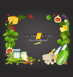 Calcium food background vector