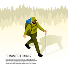 Camping isometric vector