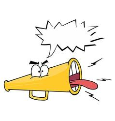Cartoon megaphone vector