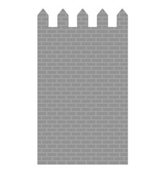 castle wall image vector image