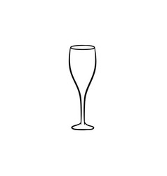 champagne glass hand drawn sketch icon vector image